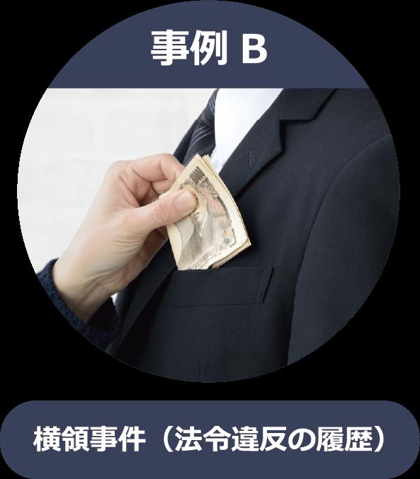 事例B 横領事件(法令違反の履歴)